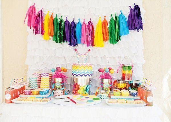 Красивая одноразовая посуда  Купить цветную пластиковую  ~ 212735_Birthday Party Ideas Unisex