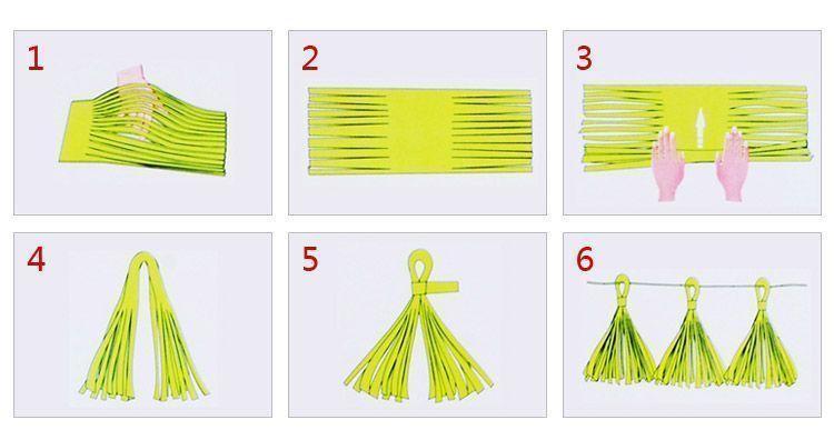 Как сделать кисточку из бумаги